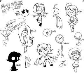 Random New Characters by Reitanna-Seishin