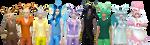 Eeveelutions Sims by Reitanna-Seishin