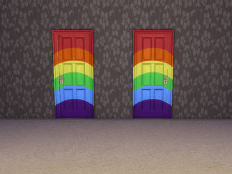 TS4 'Rainbow Effect' Door - Both Sides Download by Reitanna-Seishin