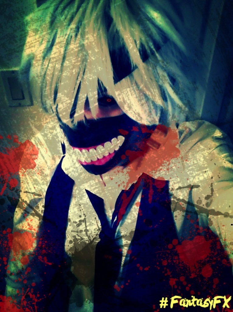 Kaneki Ken cosplay by sanddemon12