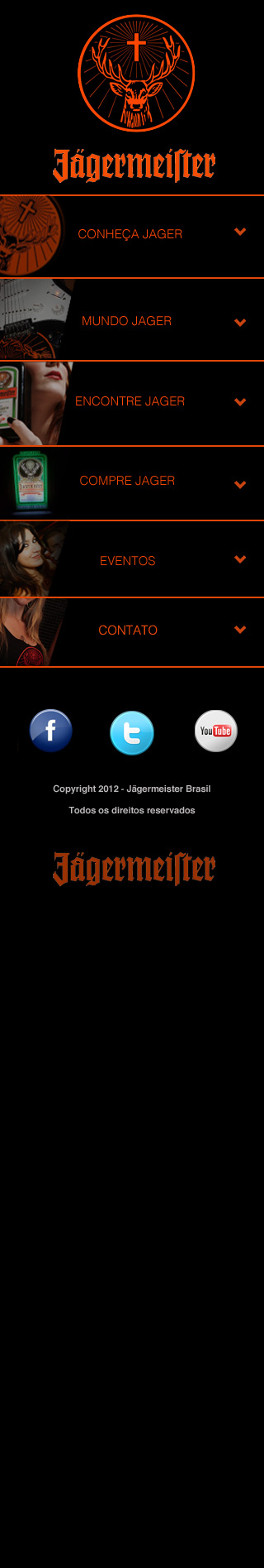 Jagermeister Mobile Layout by wishmask