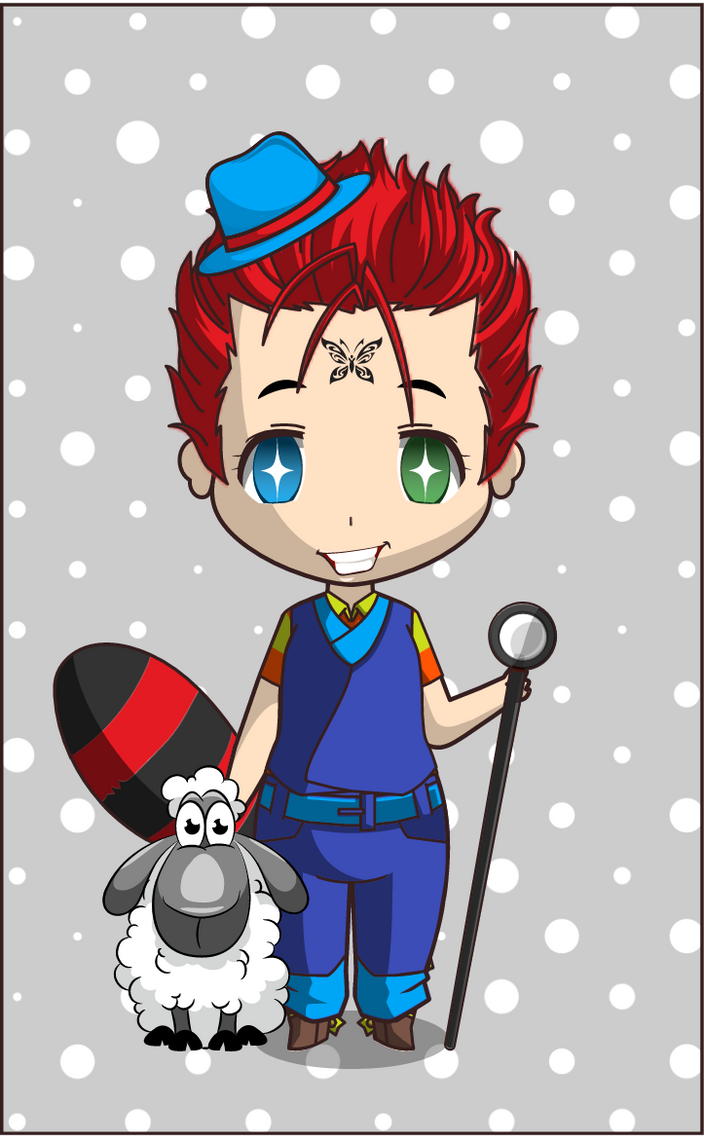 Chibi Wolf Boy With His Sheep By Tasty-muffin On DeviantArt