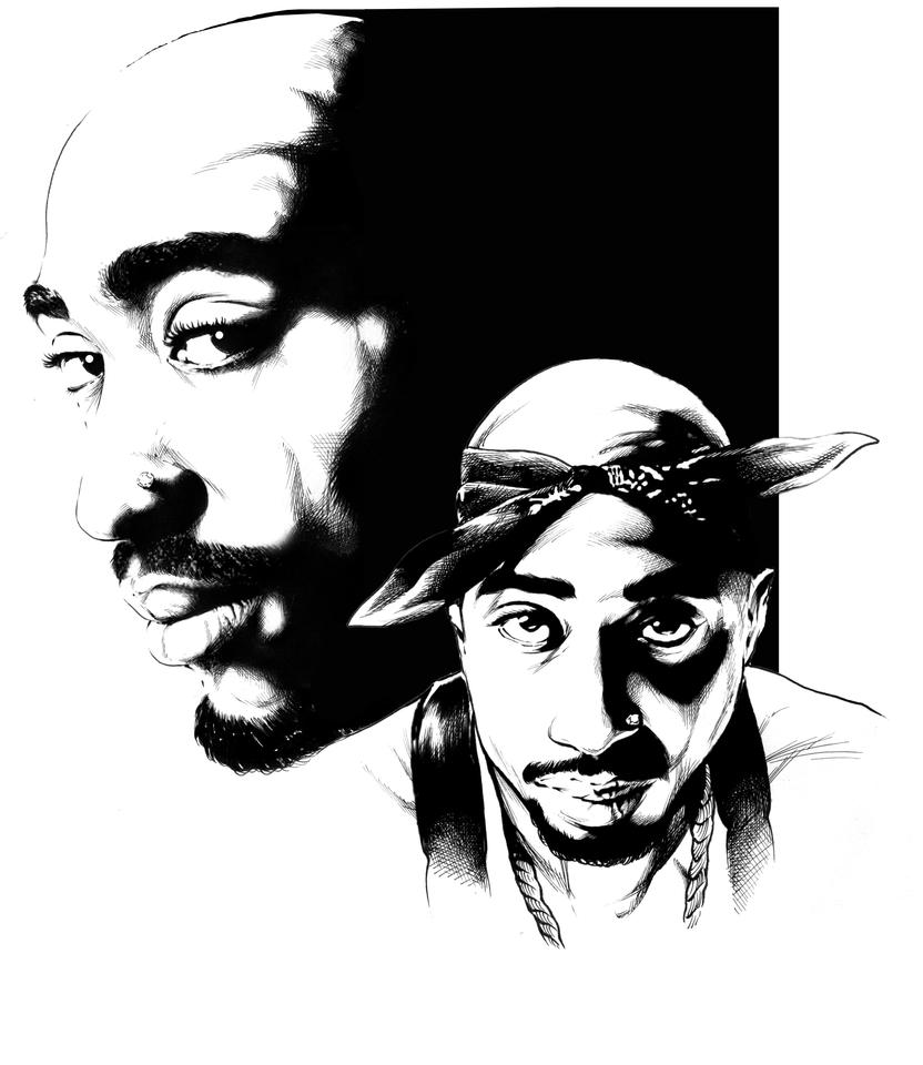 tupac by elnino22 on deviantart