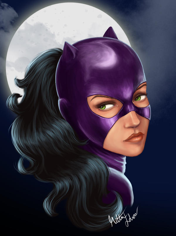 Catwoman -moon by remidar