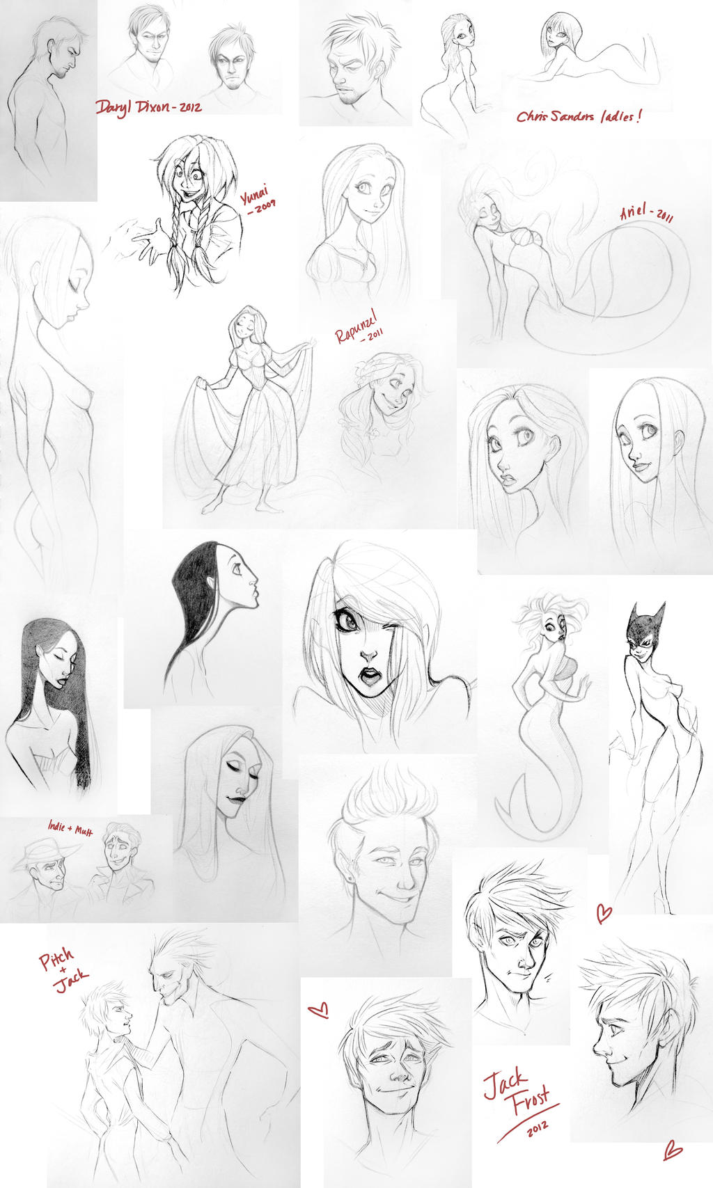 Lots and Lots of Sketches by JoceyDraws