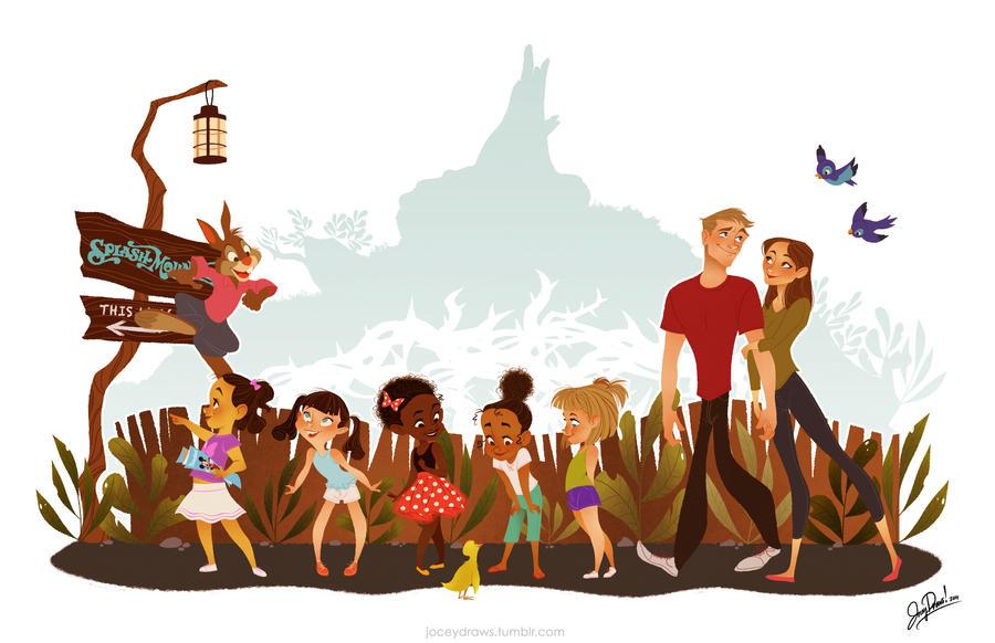 Disney Family Portrait by JoceyDraws