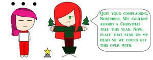 Impromptu Christmas Tree by november123456789066