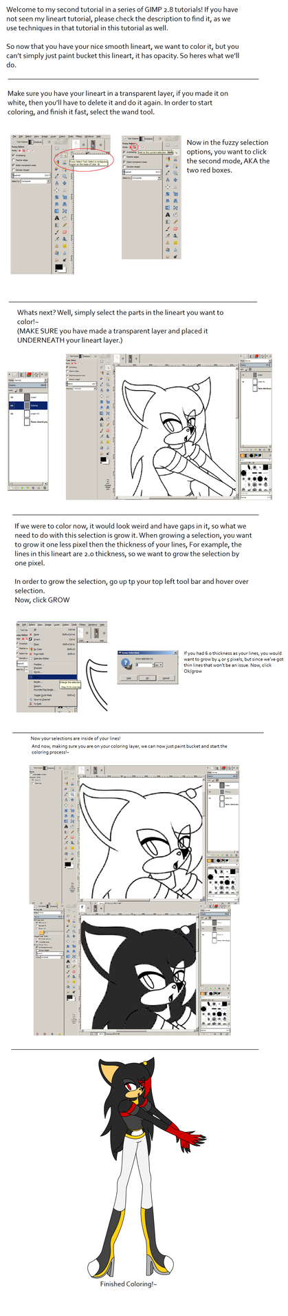 Line Drawing Gimp : Gimp coloring tutorial by animalcreation on deviantart