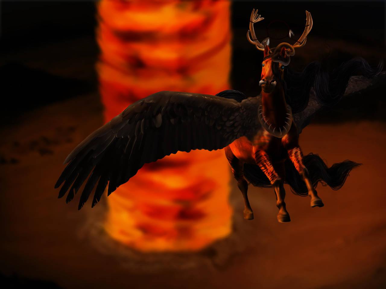 Comanche Moon by foxyfirewings