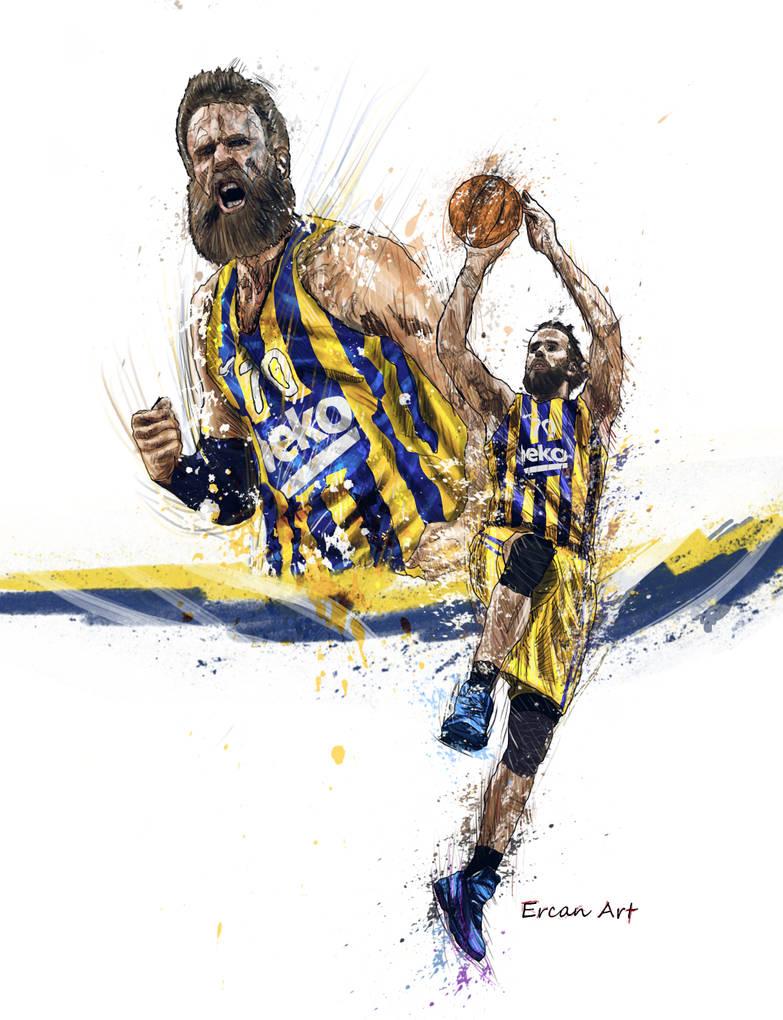 Gigi Datome  Fenerbahce Basketball by 21Artt