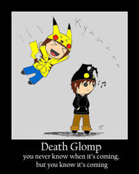 Death Glomp Demotivational by lockheart9