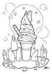 ice cream and stars