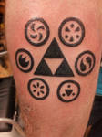 Zelda Tattoo Triforce OoT Sage Medallions