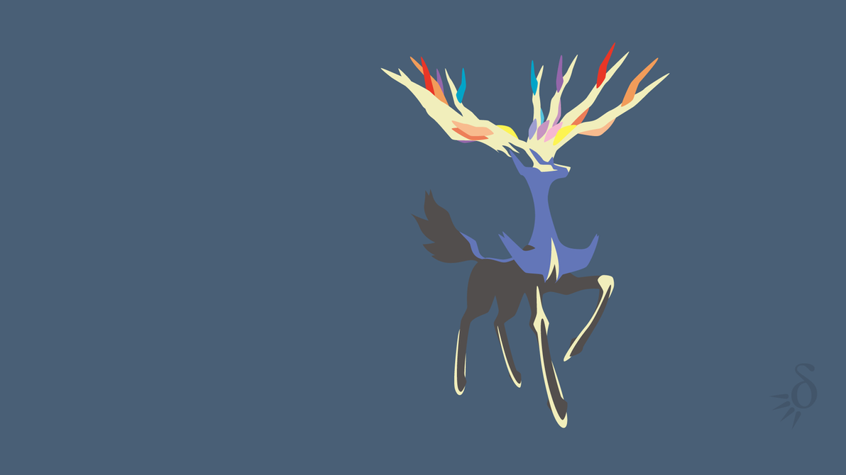 Xerneas by Krukmeister Xerneas Desktop Wallpaper