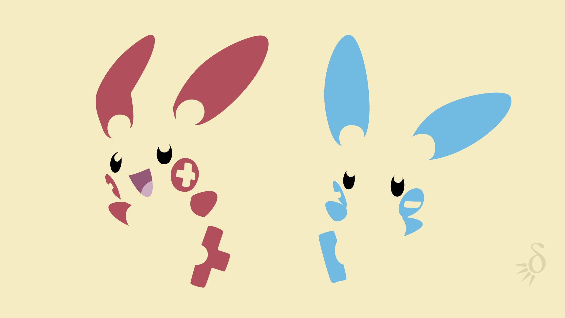 Plusle And Minun Wallpaper Plusle and Minun by Kr...