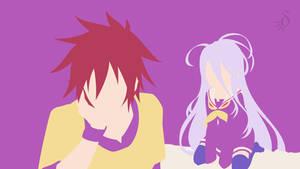 No Game No Life - Sora and Shiro by Krukmeister