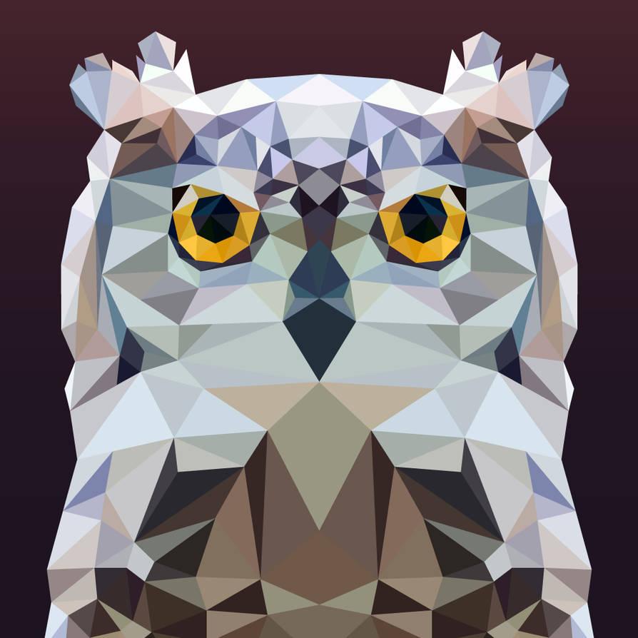Low Poly - Owl by Krukmeister