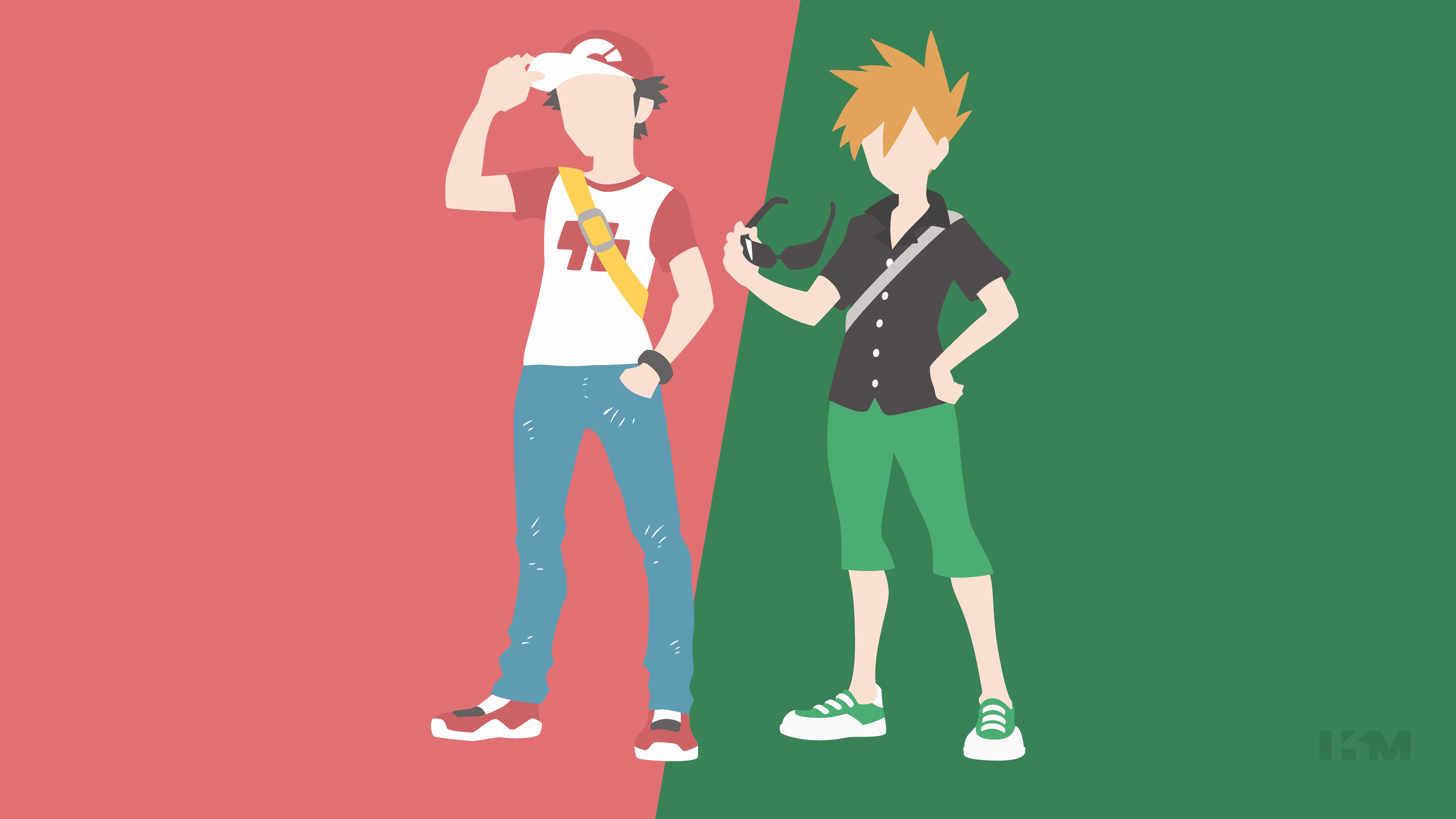 Pokemon Sun/Moon - Trainer Red and Blue by Krukmeister