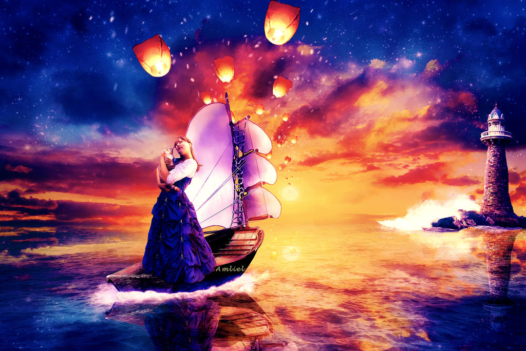 As we sail into the Heavens by Amliel