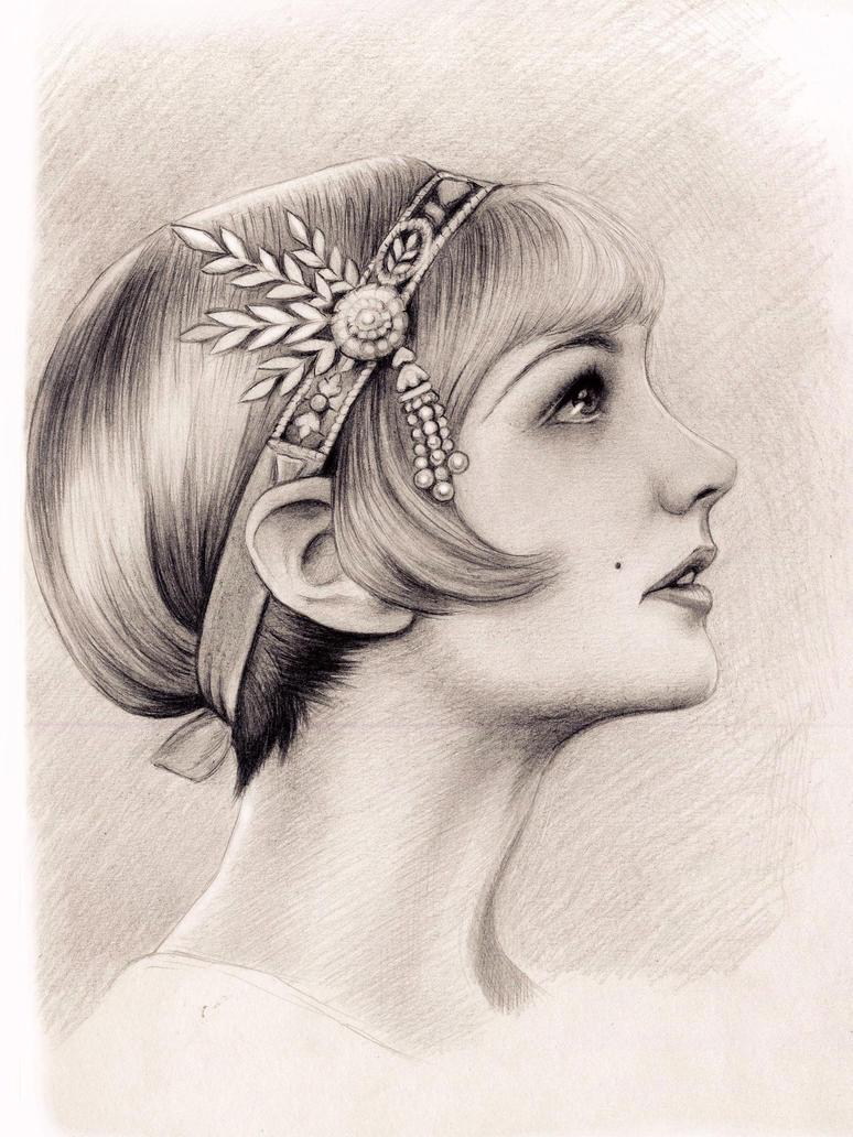 Carey Mulligan as Daisy Buchanan in Great Gatsby by Adelmort