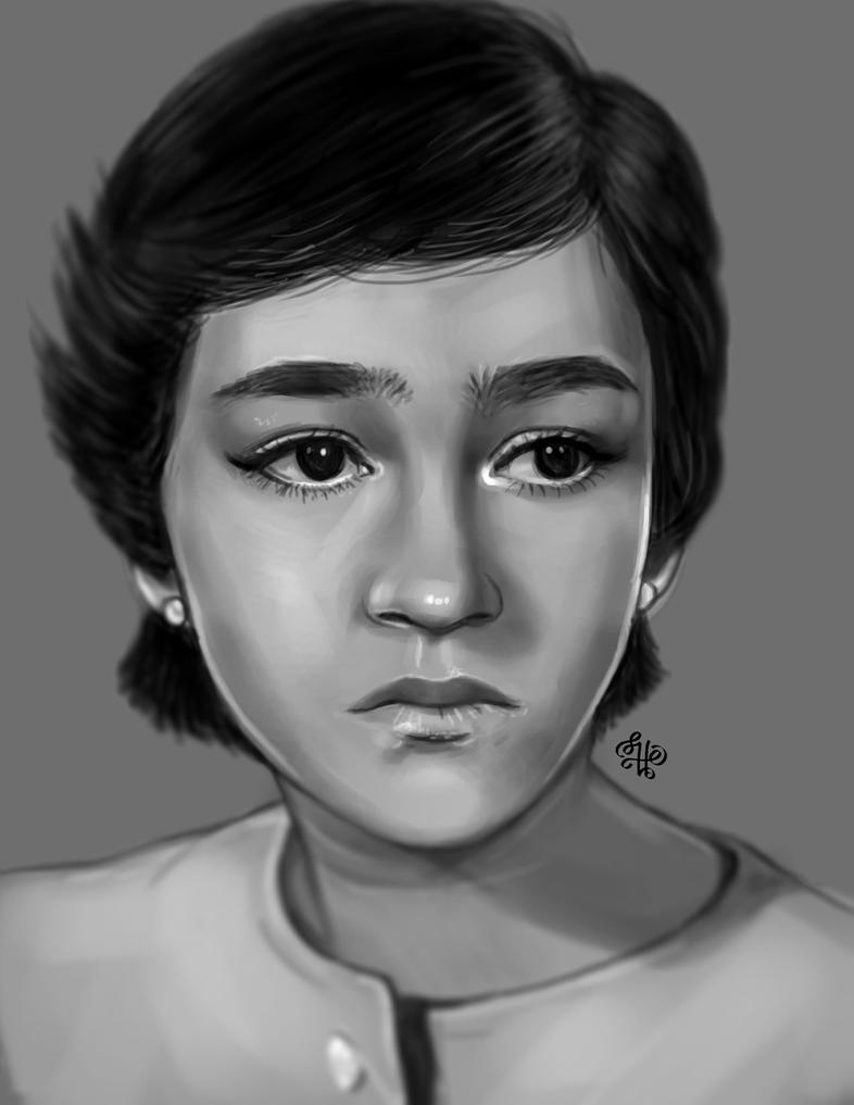 Mum's Portrait from Photo by AsyaNor