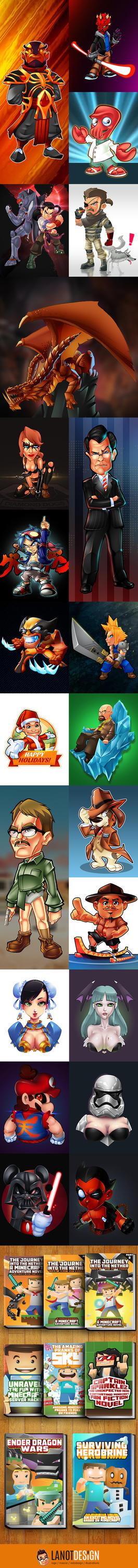 Illustration Compilations by LanotDesign