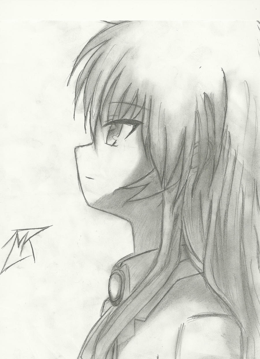 Kanade angel angel beats pencil drawing updated by 717thartist on