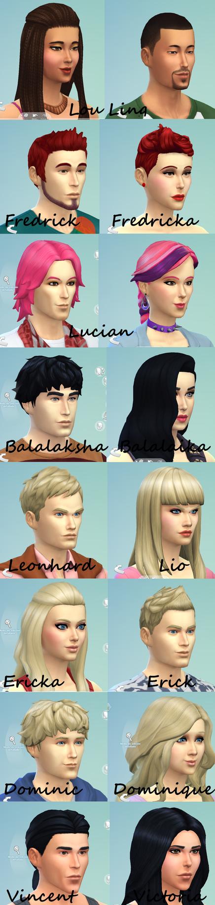 Sims - Genderbender by Starebelle