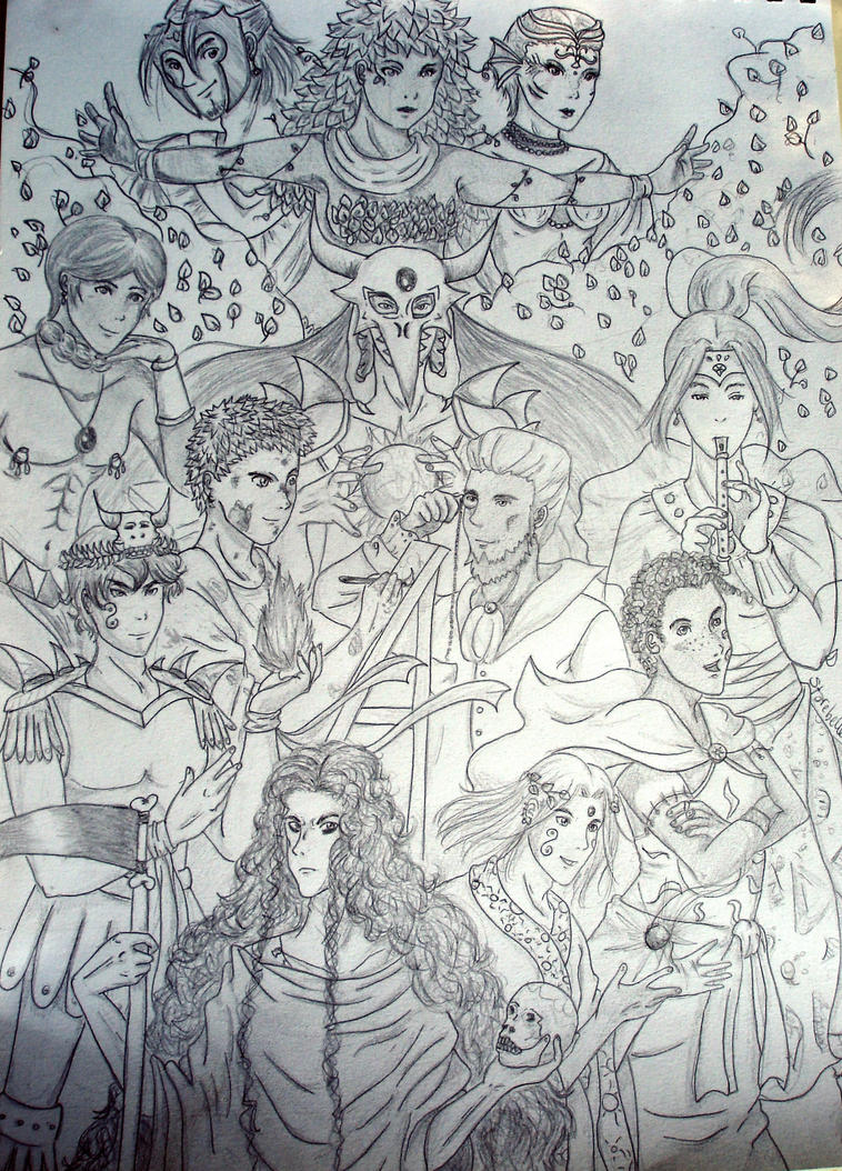 Gods and Godesses from Mythos by Starebelle