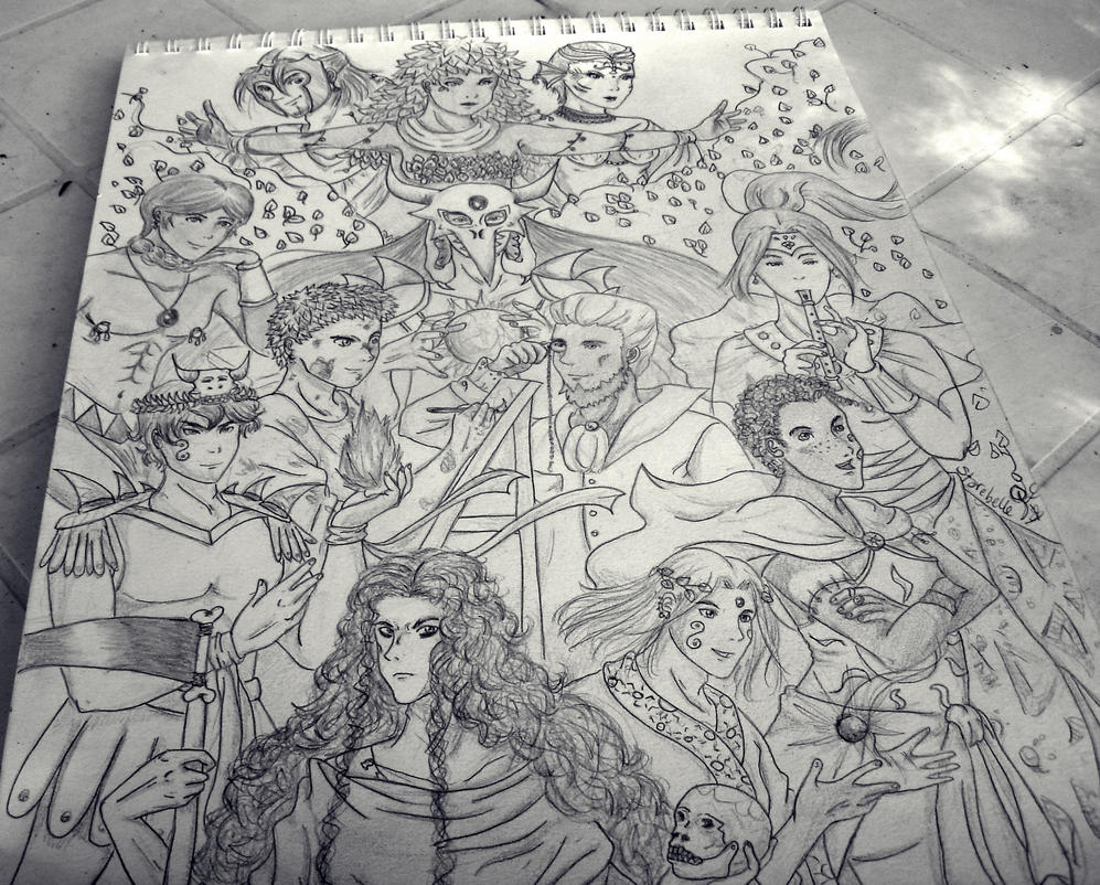 Gods and Godesses from Mythos 2 by Starebelle