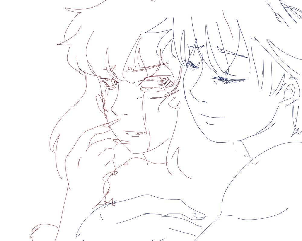 Hug sketch by Starebelle