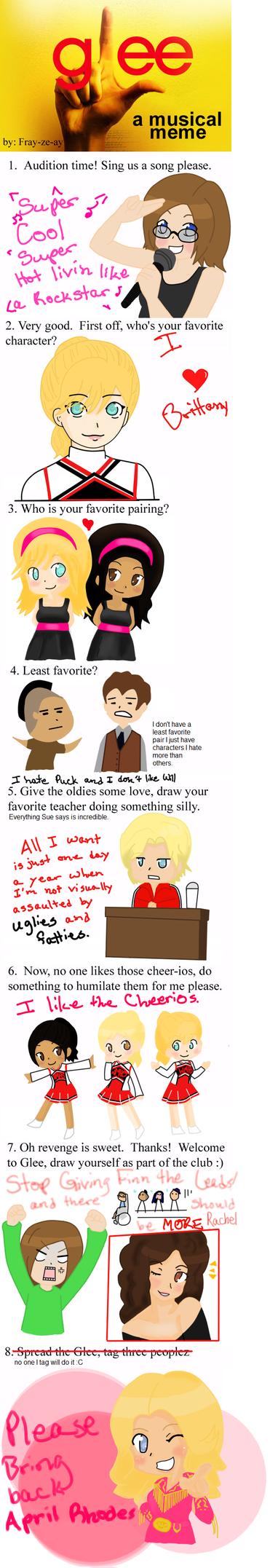 Glee Meme by IHeartAndrea on DeviantArt