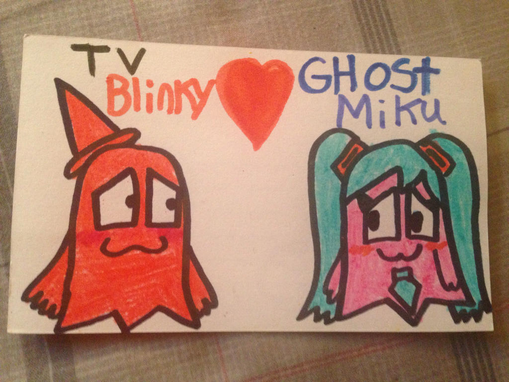 TV Blinky x Ghost Miku! by SuperStarfy2002