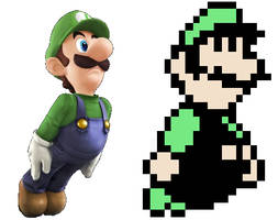 Luigi 8-bit and SSB4 design