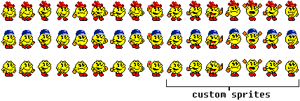 SMM Pac-Man, but with the hats from Pac-Land by SuperStarfy2002