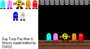 Gay Tony Pac-Man Sprites by SuperStarfy2002