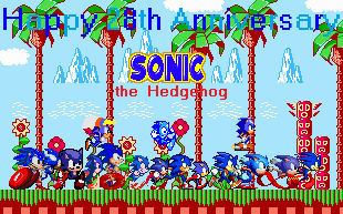Happy 28th Anniversary Sonic