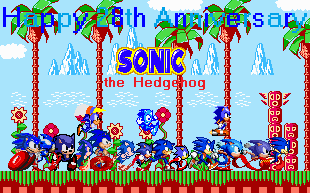 Happy 28th Anniversary Sonic by SuperStarfy2002