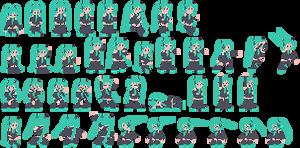 NES Hatsune Miku Sprites (MUGEN)