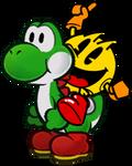 Pac-Man and Yoshi!