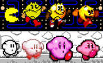 Pac-Man and Kirby over the Years