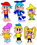 The Star-Kids and The Ristar Kids (Human Forms)