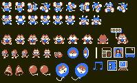 Super Game Boy Mappy Sprites