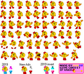 16-Bit Ms. Pac-Man Sprites