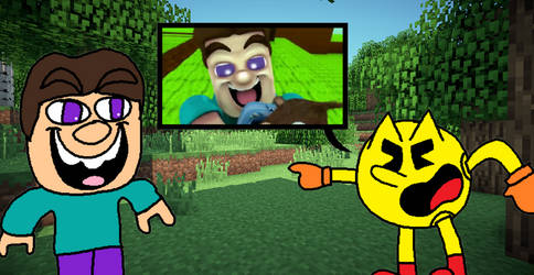 Pac-Man meets Grotesque Steve