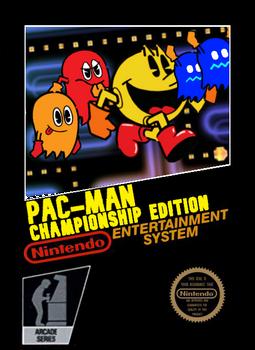 Pac-Man CE NES Box Art (US Version)