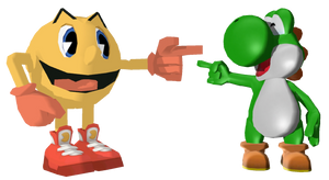 Yoshi meets his Pac-Alternative (GA Pac-Man)