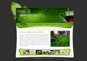Behnoosh tea interface design