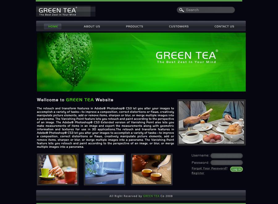 Greentea Web interface design by behzadblack on DeviantArt
