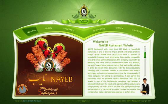 NAYEB Restaurant Web Interface